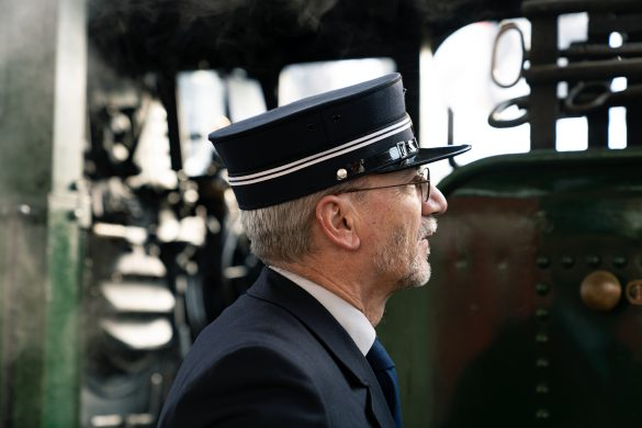 Portrait of Train Conductor in Switzerland