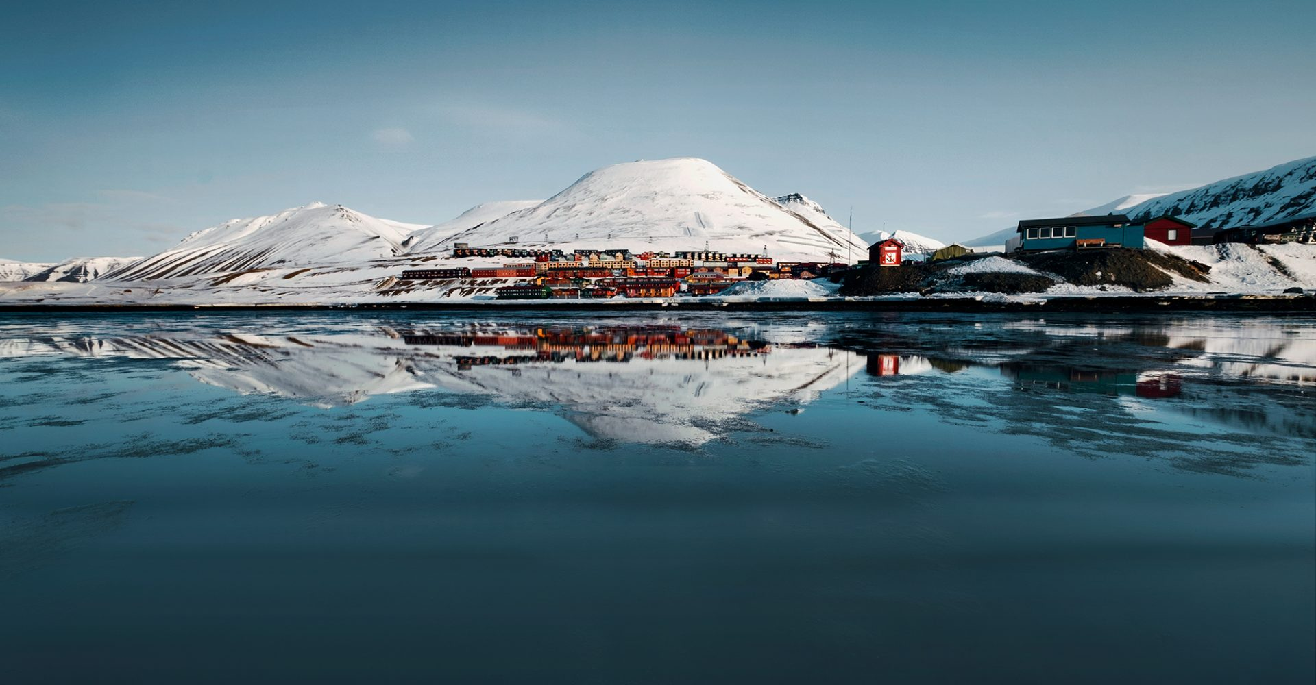 Longyearbyen Water Reflection in Svalbard