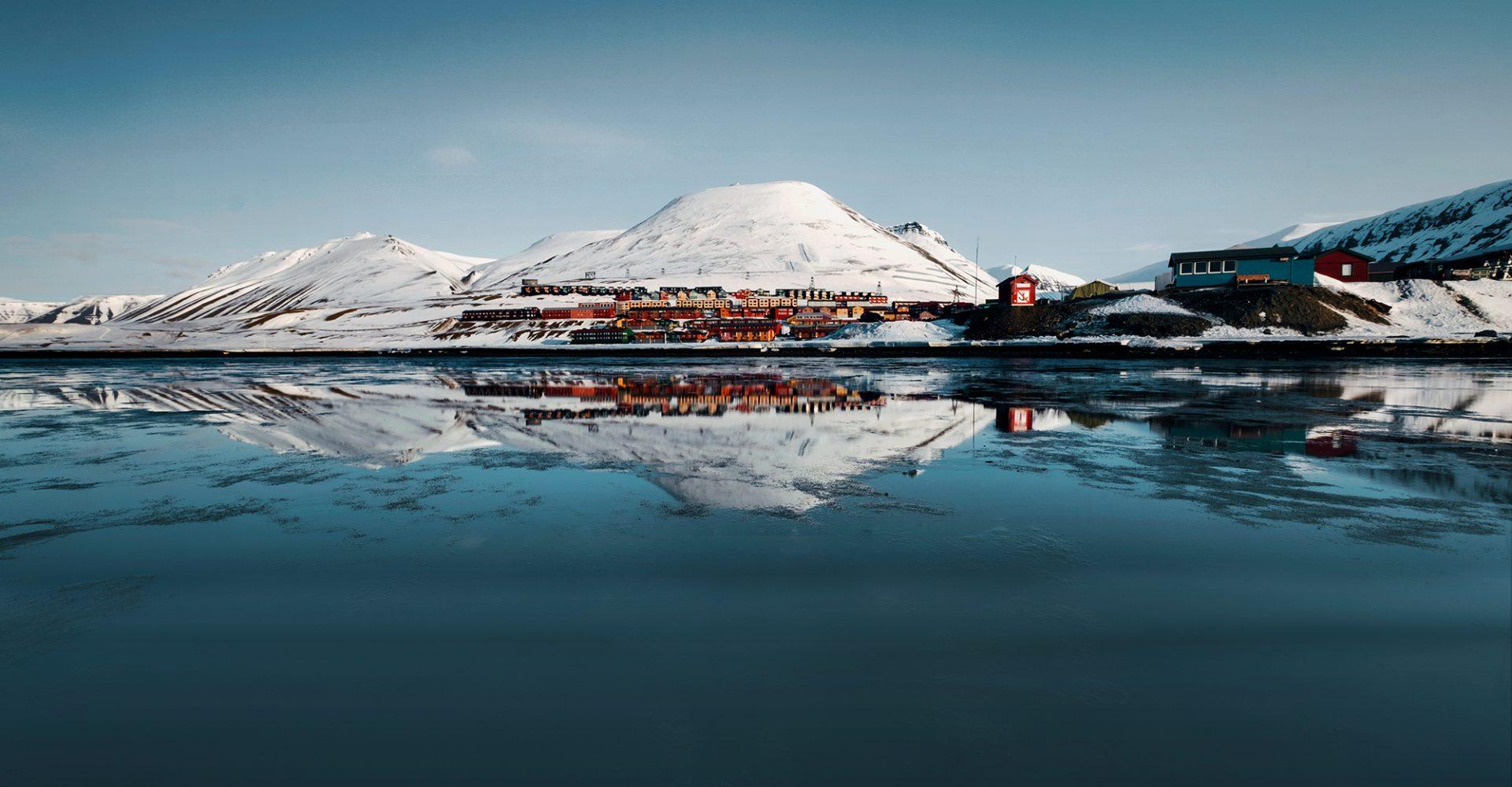 Longyearbyen Water Reflection in Svalbard