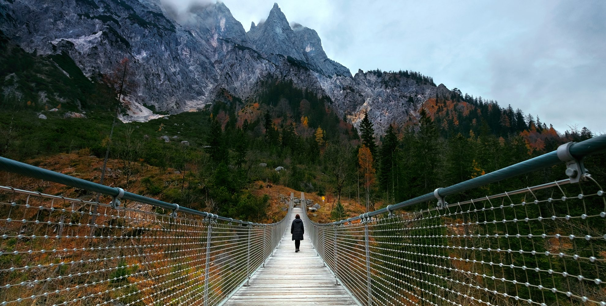 Hängseilbrücke in Berchtesgaden